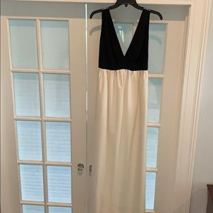 Jill Jill Stuart cream and black gown